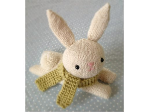 Knit Bunny Pattern Grafik Knitting Patterns von Amy Gaines Amigurumi Patterns