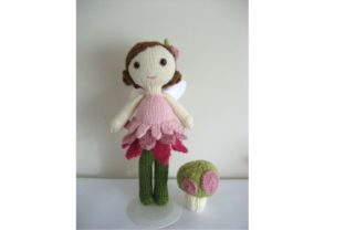 Knit Fairy Doll and Mushroom Pattern Set Graphic Knitting Patterns By Amy Gaines Amigurumi Patterns 1
