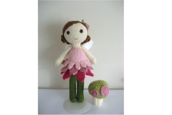 Knit Fairy Doll and Mushroom Pattern Set Graphic Knitting Patterns By Amy Gaines Amigurumi Patterns