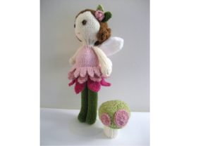 Knit Fairy Doll and Mushroom Pattern Set Graphic Knitting Patterns By Amy Gaines Amigurumi Patterns 2