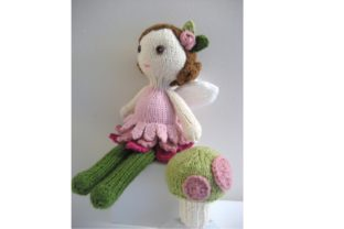 Knit Fairy Doll and Mushroom Pattern Set Graphic Knitting Patterns By Amy Gaines Amigurumi Patterns 3