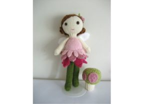 Knit Fairy Doll and Mushroom Pattern Set Graphic Knitting Patterns By Amy Gaines Amigurumi Patterns 4
