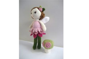 Knit Fairy Doll and Mushroom Pattern Set Graphic Knitting Patterns By Amy Gaines Amigurumi Patterns 5