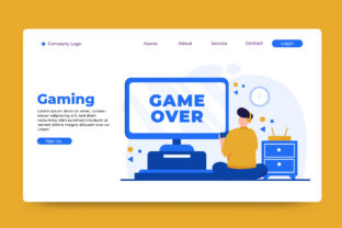 Landing Page Gaming Graphic Landing Page Templates By OKEVECTOR