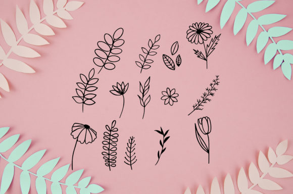 Leaves Bundle  Hand Drawn Graphic Objects By Poycl Jazz