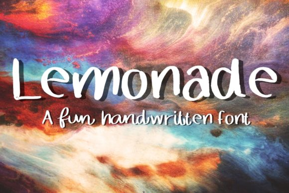 Print on Demand: Lemonade Script & Handwritten Font By ChunnapaStudio