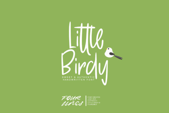 Print on Demand: Little Birdy Script & Handwritten Font By Fourlines.design