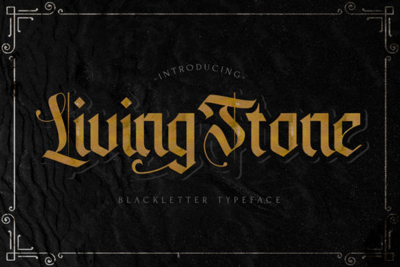 Print on Demand: Livingstone Blackletter Font By StringLabs