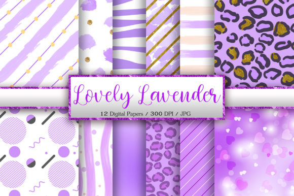 Lovely Lavender Background Digital Paper Graphic Backgrounds By PinkPearly