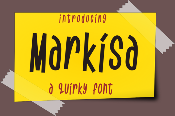 Print on Demand: Markisa Display Font By deedeetype
