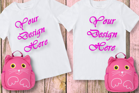 Mockup Matching Girls, Twin Mockup Graphic Product Mockups By MockupsByGaby