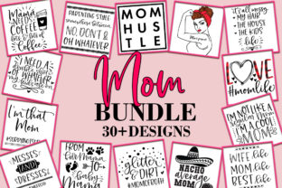 Print on Demand: Mom Mother Quotes Bundle  Graphic Crafts By freelingdesignhouse