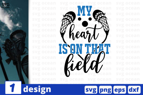 Print on Demand: My Heart is on That Field Graphic Crafts By SvgOcean