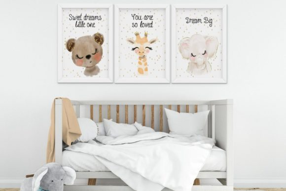 Print on Demand: Nursery Wall Art Graphic Illustrations By The Little Crafty Shop