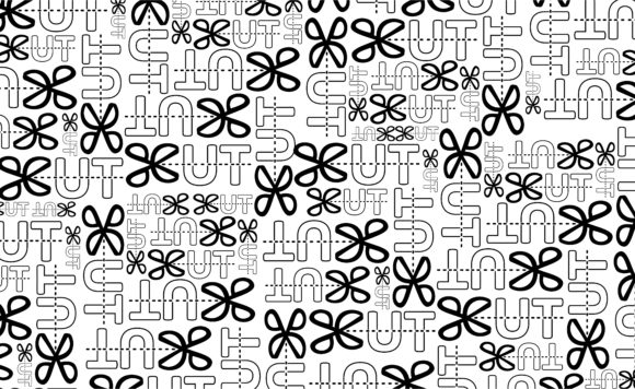 Paper Warp with Typography Pattern Set Graphic Preview
