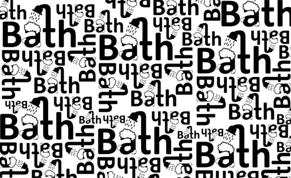 Paper Warp with Typography Pattern Set Graphic Image