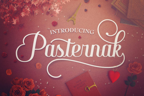Print on Demand: Pasternak Script & Handwritten Font By vintagevoyageco