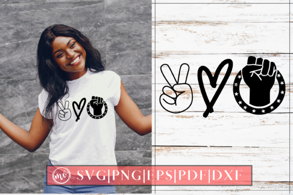 Print on Demand: Peace Love Justice SVG Design Cut File Graphic Crafts By Mockup Venue