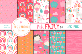 Print on Demand: Pink Fairy Fun Paper Graphic Patterns By poppymoondesign