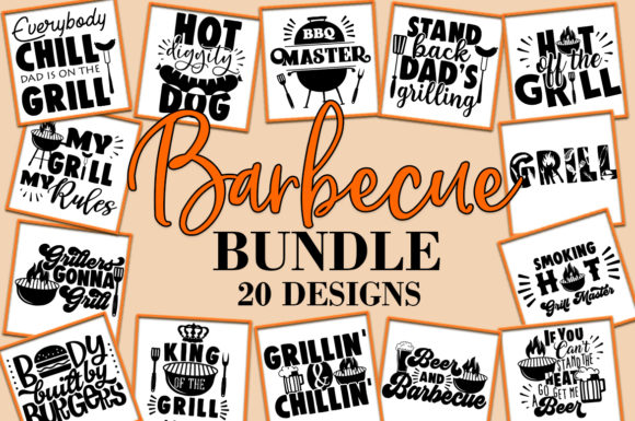 Print on Demand: Barbeque BBQ Bundle   Graphic Crafts By freelingdesignhouse