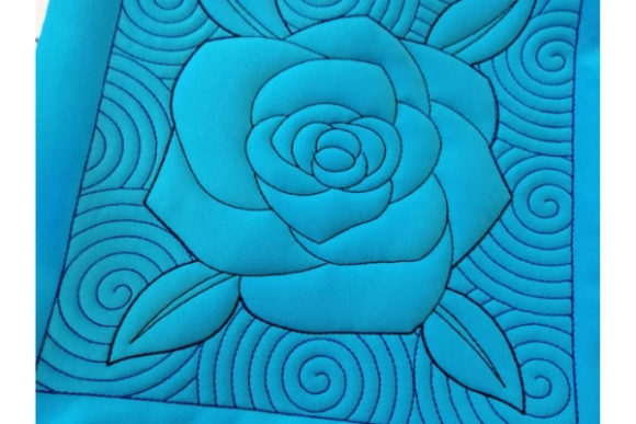 Quilt Block - Rose Sewing & Crafts Embroidery Design By ImilovaCreations - Image 2