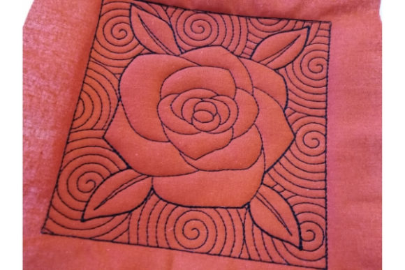 Quilt Block - Rose Sewing & Crafts Embroidery Design By ImilovaCreations - Image 3