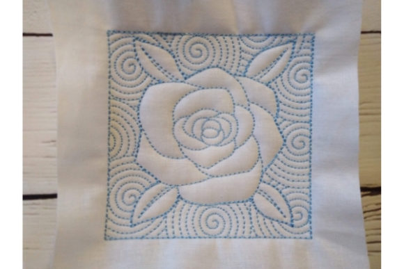 Quilt Block - Rose Sewing & Crafts Embroidery Design By ImilovaCreations - Image 4