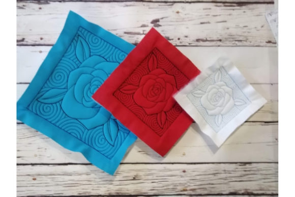 Quilt Block - Rose Sewing & Crafts Embroidery Design By ImilovaCreations - Image 5