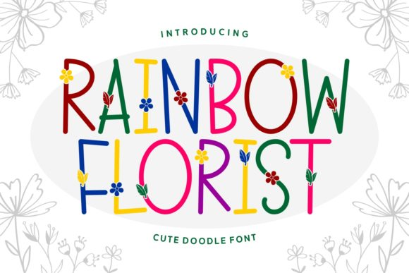 Print on Demand: Rainbow Florist Script & Handwritten Font By Keithzo (7NTypes)