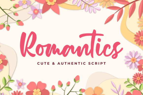 Print on Demand: Romantics Script & Handwritten Font By almarkhatype