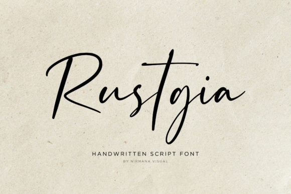 Print on Demand: Rustgia Script & Handwritten Font By Sigit Dwipa