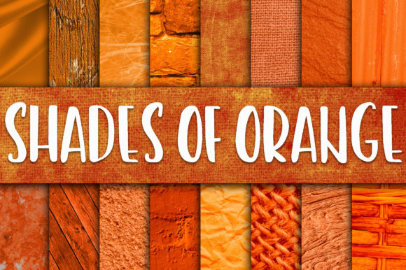 Print on Demand: Shades of Orange Digital Paper Textures Graphic Textures By oldmarketdesigns