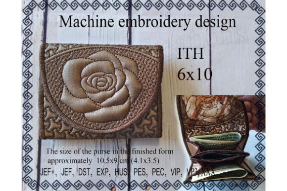 Small Wallet in the Hoop Sewing & Crafts Embroidery Design By ImilovaCreations