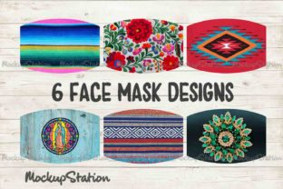 Print on Demand: Southwest Face Mask Design Bundle  Graphic Patterns By Mockup Station