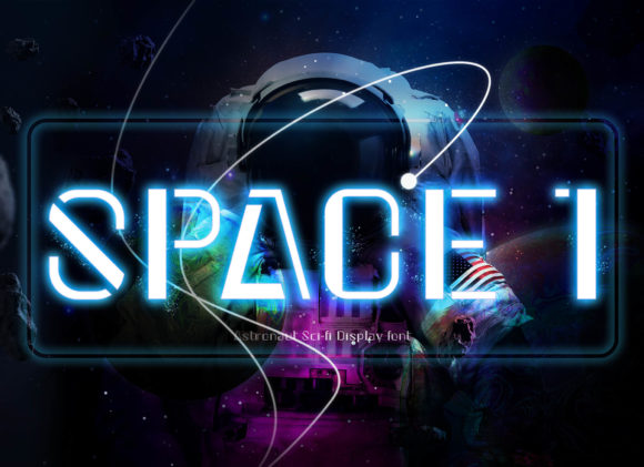 Print on Demand: Space 1 Display Font By BB Digital Arts