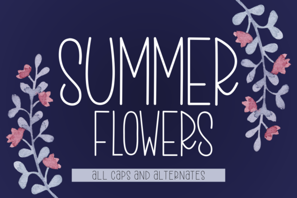 Print on Demand: Summer Flowers Script & Handwritten Font By estede75
