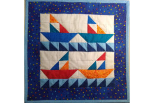 Summer Sailboats Pattern Gráfico Quilt Patterns Por SleepingCatCreations