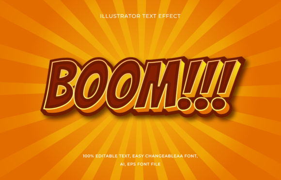 Text Effect Editable - Boom Graphic Add-ons By aalfndi
