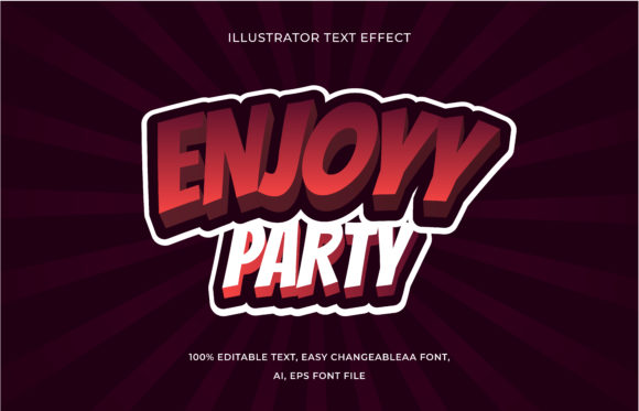 Text Effect Editable - Enjoy Party Graphic Add-ons By aalfndi