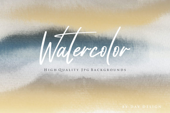 Watercolor Blue Backgrounds Graphic Backgrounds By DAYDESIGN