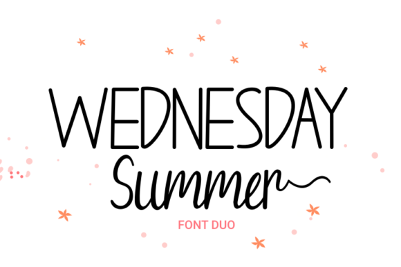 Print on Demand: Wednesday Summer Script & Handwritten Font By Rvandtype