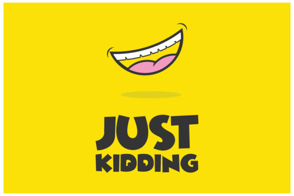 Just Kidding People Laugh Graphic Logos By alexanderbautista137