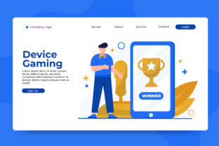 Landing Page Device Gaming Graphic Landing Page Templates By OKEVECTOR