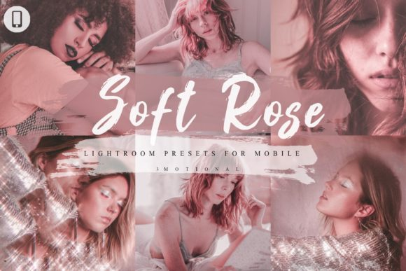 Print on Demand: 14 Soft Rose Mobile Lightroom Presets Graphic Actions & Presets By 3Motional