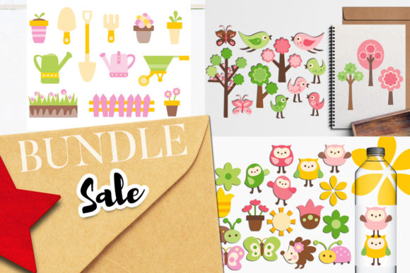 Print on Demand: Backyard Garden Bundle Graphic Illustrations By Revidevi