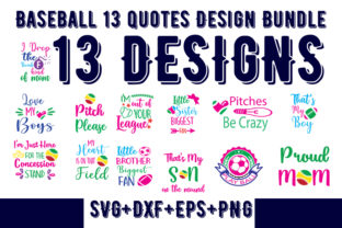 Print on Demand: 13Baseball Quotes Bundle Graphic Print Templates By Design_store