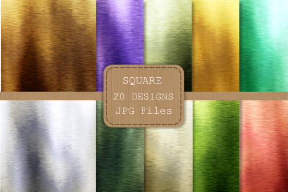 Print on Demand: Brushed Metallic Rainbow Digital Papers Graphic Textures By Prawny - Image 2