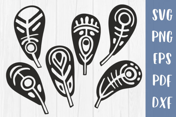 Feathers Bundle Cricut Template   Graphic Crafts By GreenWolf Art