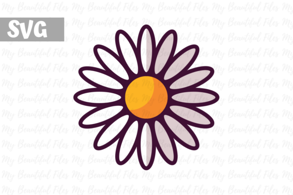 Print on Demand: Flower Daisies Gráfico Iconos Por MyBeautifulFiles