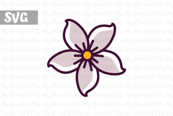 Print on Demand: Flower Jasmine Gráfico Iconos Por MyBeautifulFiles